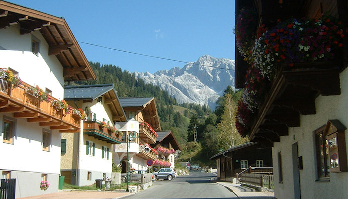 A traditional Austrian mountain village